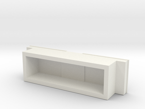 1:64 scale Pickup Tool Box  in White Natural Versatile Plastic