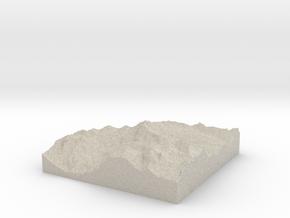 Model of Schwägalp in Natural Sandstone