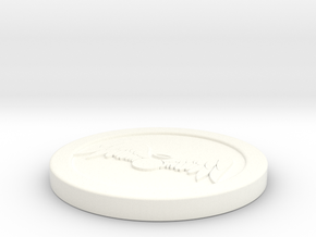 "Circle Token - 2"" Celestial in White Processed Versatile Plastic"