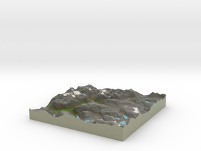 Terrafab generated model Sat Apr 05 2014 19:34:34  in Full Color Sandstone