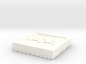 """Square - 1"""" Celestial in White Processed Versatile Plastic"""