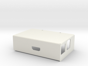 Raspberry PI Computer -Sheet Metal Case - Cover in White Natural Versatile Plastic
