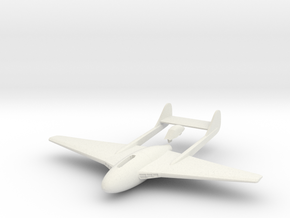 Aircraft- DH 100 Vampire Mk III (1/100th) in White Natural Versatile Plastic
