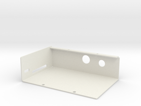 Raspberry PI Computer -Sheet Metal Case - Base in White Natural Versatile Plastic