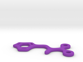 Phenylalanine Charm in Purple Processed Versatile Plastic