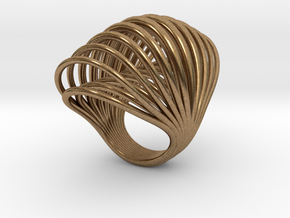 Ring 001 in Natural Brass