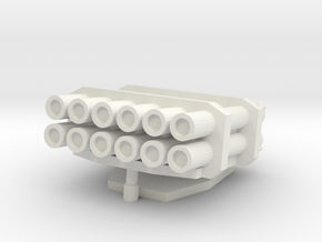 15mm Kalliope/MLRS Turret in White Natural Versatile Plastic