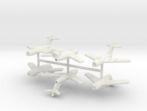 1/300 Mikoyan-Gurevich MiG-15 (x6) in White Natural Versatile Plastic