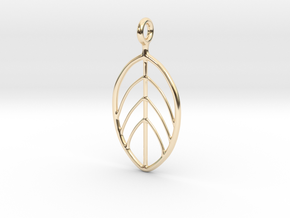 Apple Leaf Pendant in 14K Yellow Gold