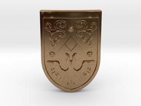 Toon Hero's Shield in Natural Brass