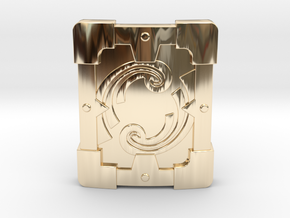 Fortified Shield in 14K Yellow Gold