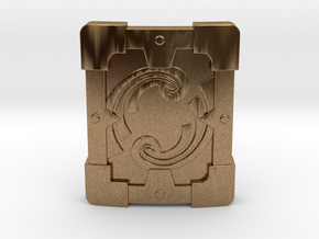 Fortified Shield in Natural Brass