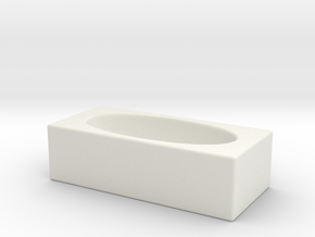 1:24 Oval Tub (Not Full Scale) in White Natural Versatile Plastic