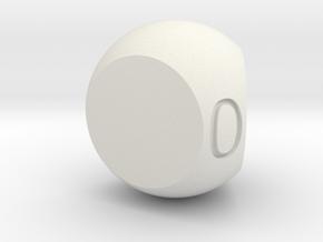 Fudge D3 in White Natural Versatile Plastic