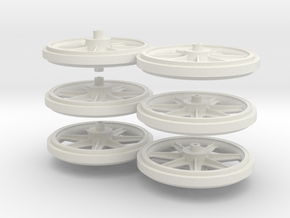 Wheels 2de Serie in White Natural Versatile Plastic