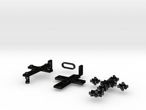 """Rotate Pendant """"Cross Gear"""" in Matte Black Steel"""