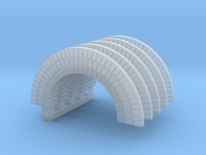 Brick Arch HO X 5 in Smooth Fine Detail Plastic