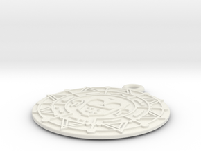 Pirate Gold Medallion in White Natural Versatile Plastic
