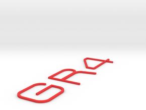BADGE GR4 INSERTS in Red Processed Versatile Plastic