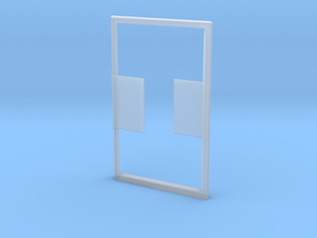 Simple Card Holder in Smooth Fine Detail Plastic