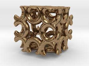Incendia Ex Fractal Cube T58 in Natural Brass