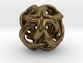 Octa Cross - 20mm in Natural Bronze