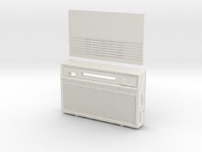 1/6 scale 1960's style RCA 8 Transistor Radio  in White Natural Versatile Plastic