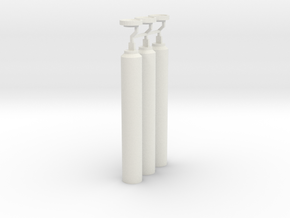 1:6 scale russian VSK 94 Suppressor Kit X3 in White Natural Versatile Plastic