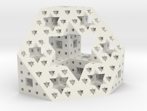 Starry cut of the Menger Sponge in White Natural Versatile Plastic