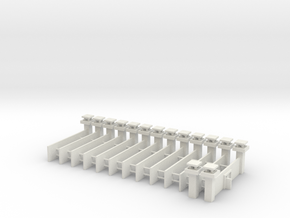 1/700 Prison Camp Wall Set (x14) in White Natural Versatile Plastic