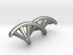 DNA Double Helix Pendant in Natural Silver