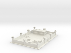 1/700 Prison Barracks and Admin in White Natural Versatile Plastic