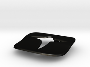 Simple birdie necklace in Matte Black Steel