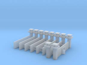 1/700 Prison Camp Wall Set (x8) in Smooth Fine Detail Plastic