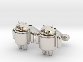 Android Cufflinks in Platinum