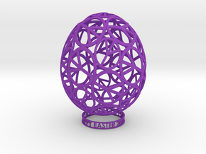 EASTER PEACE EGG in Purple Strong & Flexible Polished