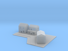 1/700 Town House Scene in Smooth Fine Detail Plastic