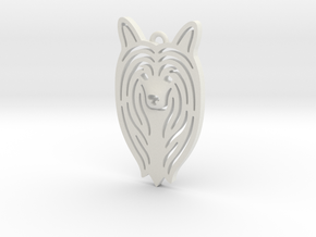 Cute pet pendant. in White Natural Versatile Plastic