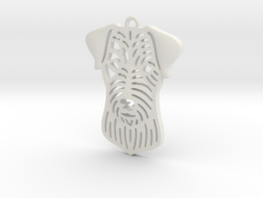 Cute pet pendant. in White Strong & Flexible