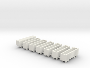 1/700 Coal And Mineral Train Set in White Natural Versatile Plastic