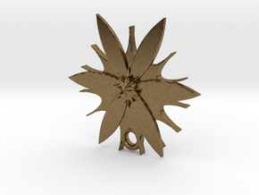Passion Flower Pendant in Natural Bronze