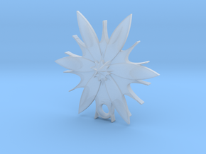 Passion Flower Pendant in Smooth Fine Detail Plastic