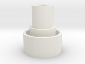 Hazard Flash in White Natural Versatile Plastic