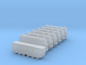 1/700 Passenger Train Set in Smooth Fine Detail Plastic