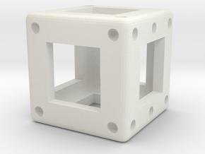 DICE - D6 - 0.50 cm in White Natural Versatile Plastic