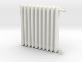1:24 Scale- Radiator in White Natural Versatile Plastic
