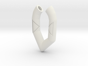 Pendant- Runestone Small in White Strong & Flexible