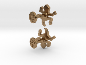 Escher Reptile Cufflinks in Natural Brass