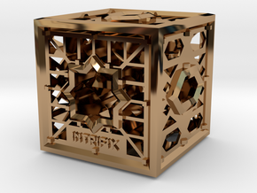 Cube of Visions in Polished Brass