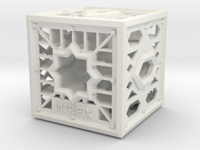 Cube of Visions in White Natural Versatile Plastic